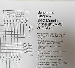 blow out diagram bic turntable model 80z blow up diagram, parts list ... #5