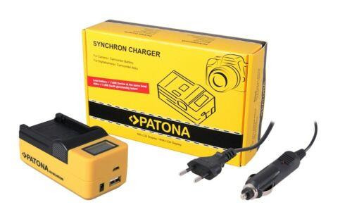 Patona síncrono cargador USB para Samsung sbl220 sb-l220 con pantalla LCD