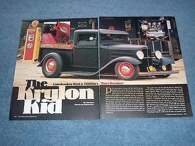 1932 Ford Gehackte Top Pickup Artikel Die Krylon Kid Cornhusker Rod & Custom