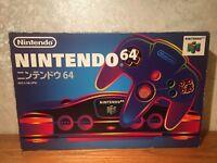 Boxed Japanese Nintendo 64 Game Console Japan NTSC J N64 Jap Jpn Jp Snes Nes