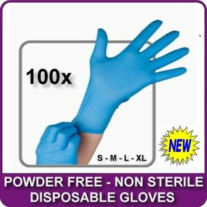 BOX-OF-100-BLUE-NITRILE-POWDER-FREE-DISPOSABLE-WORK-RUBBER-GLOVES-NEW-ALL-SIZES
