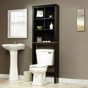 wood bathroom storage unit rack over toilet bath towel organizer rh ebay com bathroom cabinets over toilet walmart bathroom wall cabinets over toilet