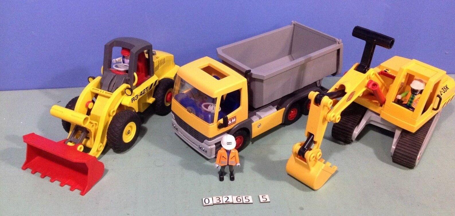 (O3265.5) playmobil  Lot 3 véhicules de chantiers ref 3265 3001 3934  perfezionare