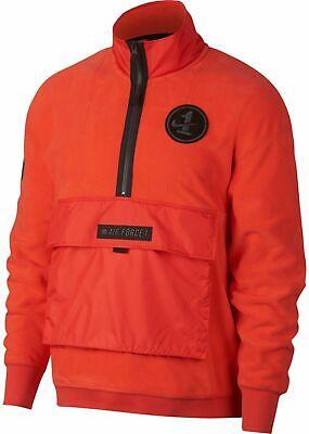 Nike Sportswear AF1 Air Force Half Zip Men's Fleece Red AJ0801 634 | eBay
