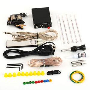 Complete-Tattoo-Kit-Set-Equipment-Machine-Needles-Power-Supply-Gun-Color-Inks-4A