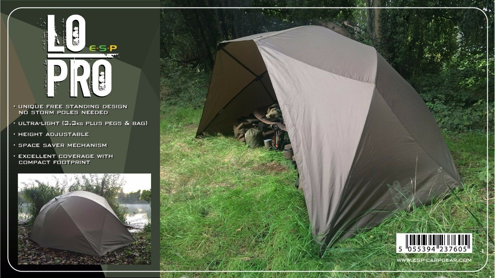 ESP NEW Carp Fishing Lo Pro Brolly    LUEUMLPB