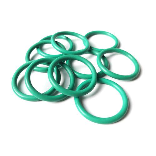 Ø1mm Cross Section Green Fluorine Rubber O-Ring Seals Gasket Oil Sealing Washers