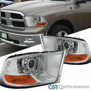 For Dodge 06-08 Ram 1500 2500 3500 Pickup Clear Headlights Driving Lamps Pair