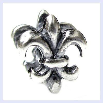 925 Sterling Silver Fleur-De-Lis Flower of Lily Bead for European Charm Bracelet