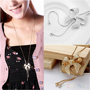 Fashion-Crystal-Bowknot-Pendant-Long-Necklace-Rhinestone-Butterfly-Sweater-Chain
