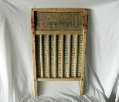 """In Howard Woodenware Antique Wooden Washboard 22.5"""" X 12.5"""" Fashionable Style;"""