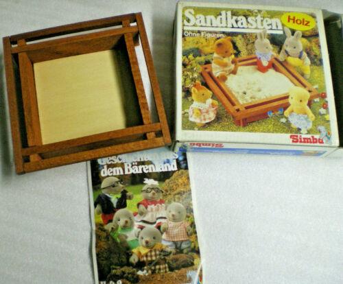 SIMBA Bärenwald SANDKASTEN Bear Family Toy Vintage Holz Bärenfamilie OVP Neuw