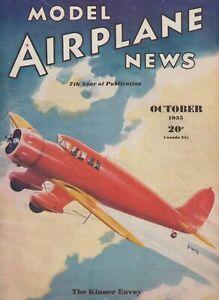Model Airplane News (Oct 1935) Wing Flapper, Kinner Envoy, A-12 Shrike Glider