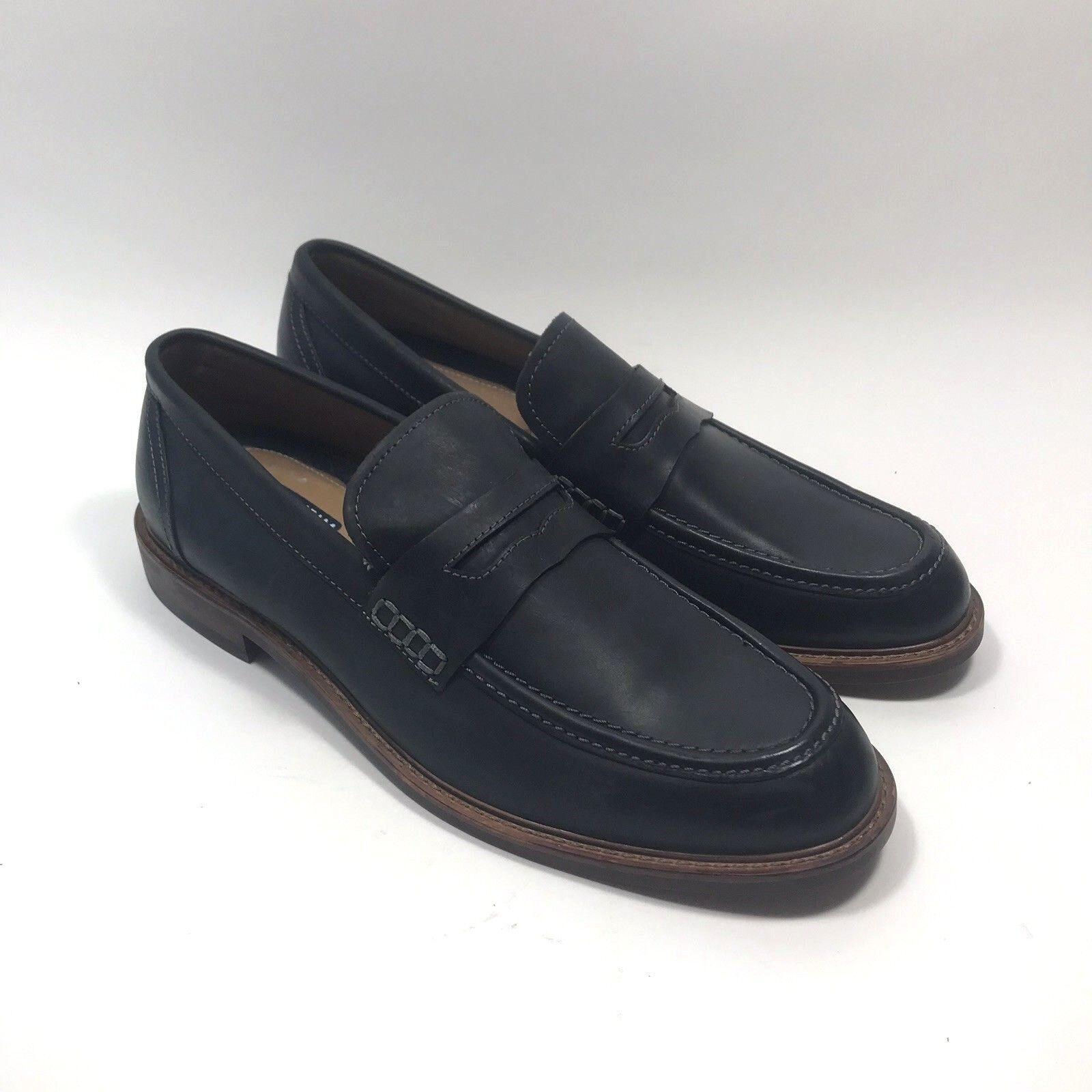 Florsheim Genuino Cuero Negro Mocasín Zapato de vestir para hombre