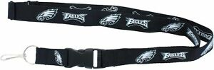 NFL-Philadelphia-Eagles-Black-Breakaway-Lanyard-Keychain-Licensed-Aminco-22-034
