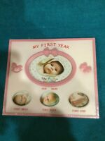 My First Year Baby Picture Frame Pink Baby Shower Gift Newborn Frame Cute