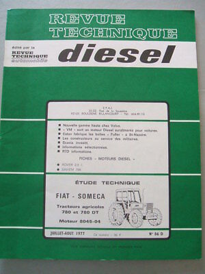 Manuels, Revues, Catalogues Revue Technique Tracteur Fiat Someca 780 Moteur 8045-04 Équipements Professionnels 2 Et 4 Roues Dt