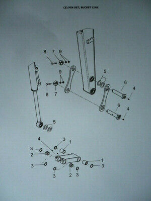 Buchsen Bolzensatz Dichtung Ringe Set pin set Yanmar B15-3 Minibagger