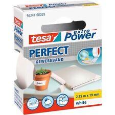 tesa® extra Power Perfect Gewebeband 2,75 m x 38 mm weiss