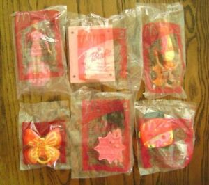 2002 McDonald/'s HAPPY MEAL TOYS BARBIE COMPLETE SET OF 6 NEW FACTORY SEALED