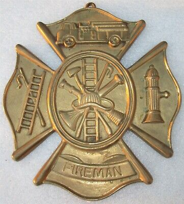 FIREFIGHTER MALTESE CROSS Wall Plaque -Valor Honor,Service Courage Dedication