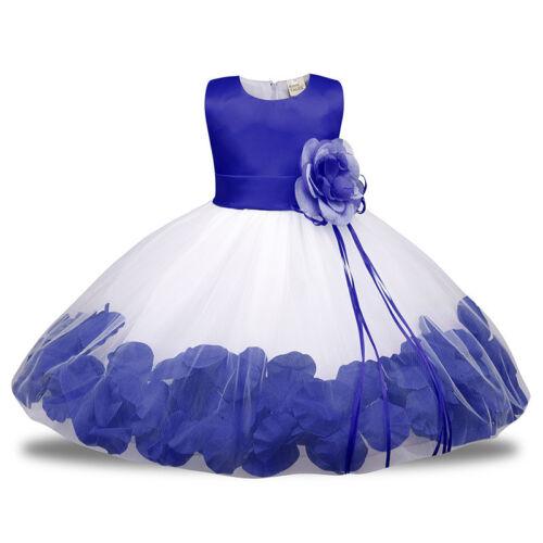 Flower Girl Lace Princess Dress Kids Party Pageant Wedding Bridesmaid Tutu Dress