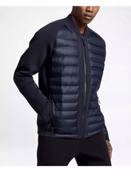 Cada semana sistemático barbilla  Nike Sportswear Tech Fleece Aeroloft Men's Down Bomber Sz Large Navy 806837  451 for sale online | eBay