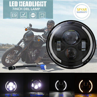 "1PCS 7/"" Motorcycle Headlight CREE LED Turn Signal Light For Harley Cafe Racer"
