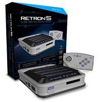 Retron 5 Retro Console For Nintendo Nes Snes Sega Genesis Gameboy Games Gray
