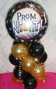 18-034-Feuille-Ballon-Table-Decoration-Display-Prom-Air-remplir-aucune-Helium-bg