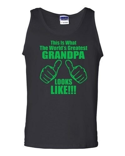 This Is What The World/'s Greatest Grandpa Looks Like Novelty Adult Tank Top