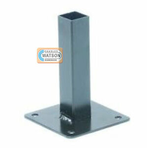 25mm 1 Quot Square Tube Anchor Base Plate Ebay