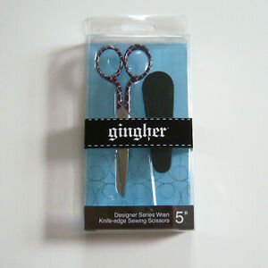 """Gingher WREN Designer Series 5"""" Limited Edition Embroidery Scissors"""