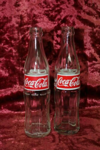 Lot of 2 Vintage Rare Coca Cola Old Glass Empty Massive Bottles Uzbekistan 90-x