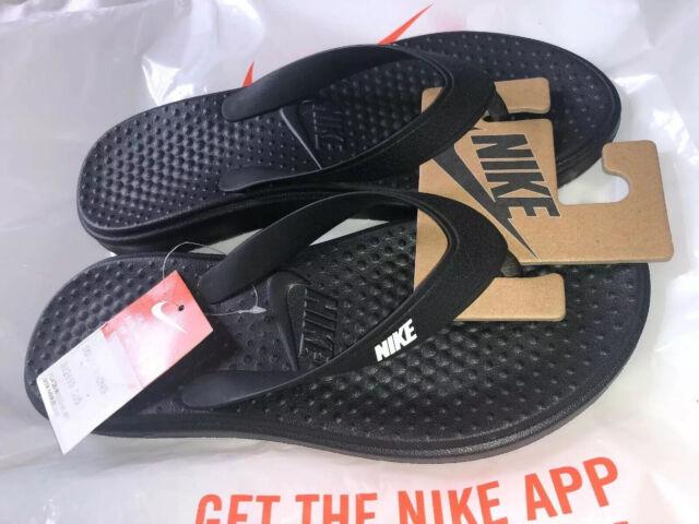 Nike Solay Thong Black White Mens Flip