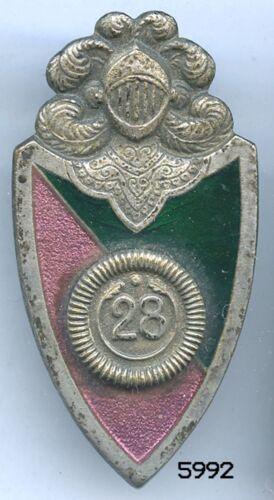 5992 - INSIGNE 28e RGT DE DRAGONS 1er TYPE