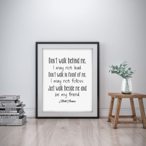Albert Camus Inspirational Wall Art Print Motivational Quote Poster Home Decor