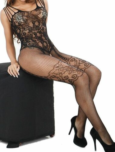 Fishnet Body Stockings Sleepwear Adult Bodysuit Women/'s Lingerie Babydoll New US