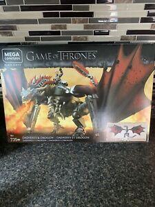 NEW Game of Thrones Mega Construx Black Series Daenerys and Drogon GKG97 735 pcs