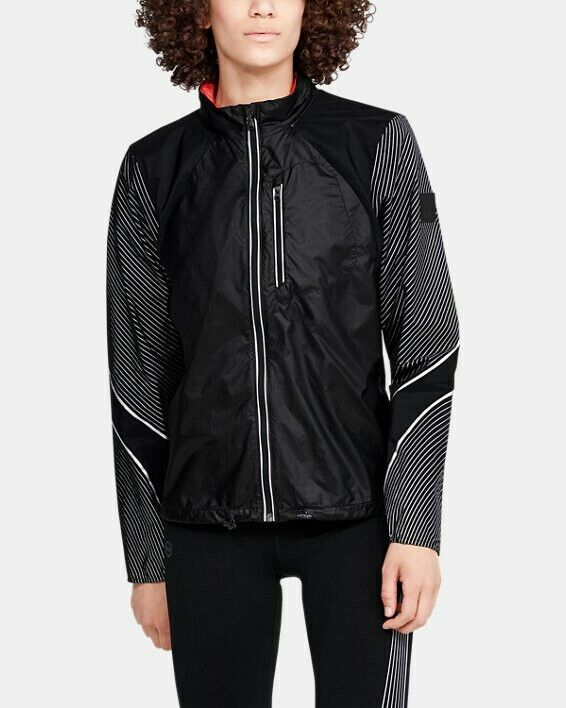 Under Armour Women's Ua Run Impasse Wind Reflect Jacket Size Large Black 1350956 To Win Warm Praise From Customers