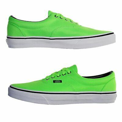 Vans Chaussures Era Neon Green Authentic Skater Rocker Baskets Chaussures Hommes Neuf   eBay