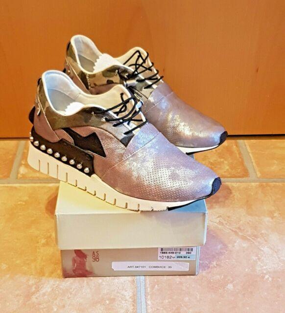 Sneaker, A.S. 98 (Airstep), silber, Größe 39, neu mit Karton