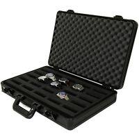 Aluminum Watch Storage Box 8 watches Briefcase Handle ...