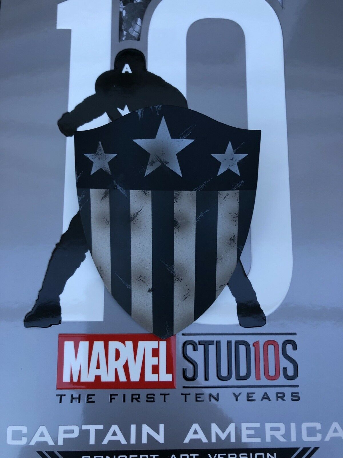 Hot Toys MMS488 Marvel First Ten Years Years Years Concept Captain America Classic Shield 15e759