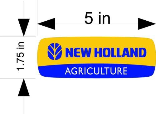 window NEW HOLLAND AGRICULTURE tractor decals//stickers vehicle
