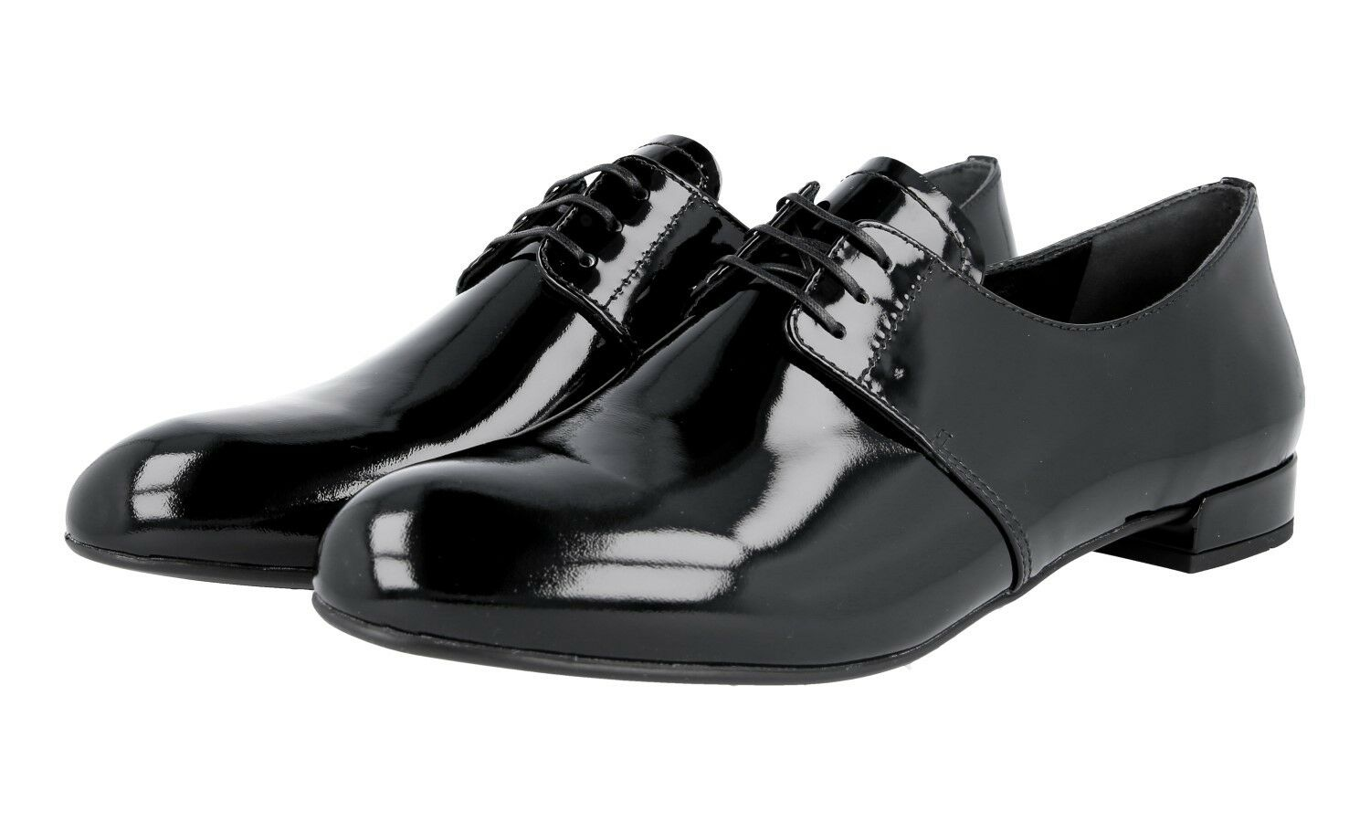 AUTHENTIC LUXURY PRADA SHOES PATENT DNC645 BLACK NEW US 9 EU 39 39,5 UK 6