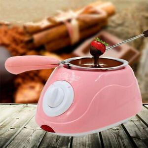 Rosa Giallo Cioccolato Melting Pot Elettrico Fonduta Melter Macchina Set Fai da Te Cucina