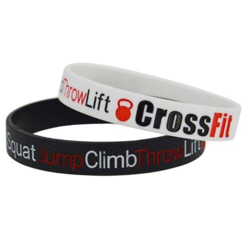 Crossfit Palestra Bodybuilding Fitness motivazione Silicone Braccialetto Bracciale Regalo