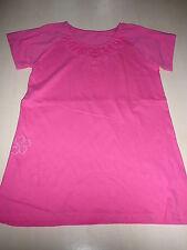 TCM tolles T-Shirt Gr. 146 / 152 rosa mit Blumendruckmotiv !!
