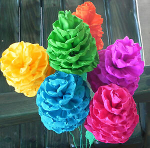 Mexican paper flowers set of 6 multicolor sofis we make special image is loading mexican paper flowers set of 6 multicolor sofis mightylinksfo